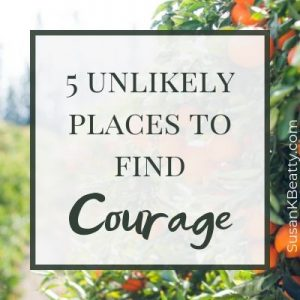 "Where will you find courage? Courage is not always about running into a burning building or engaging on the battlefield. It's more often in Tolkien's ""unlikely places."" susankbeatty.com"