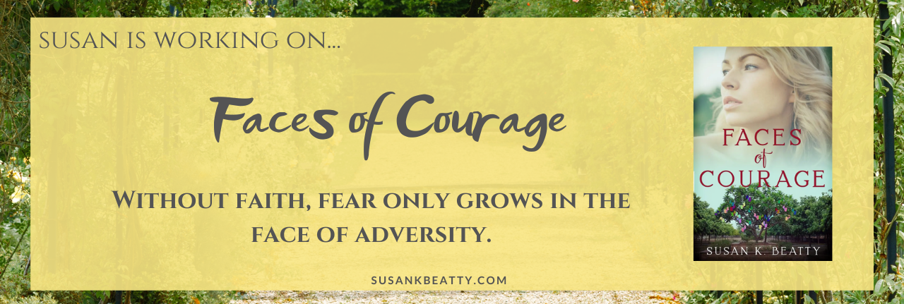 Susan is working on...Faces of Courage.
